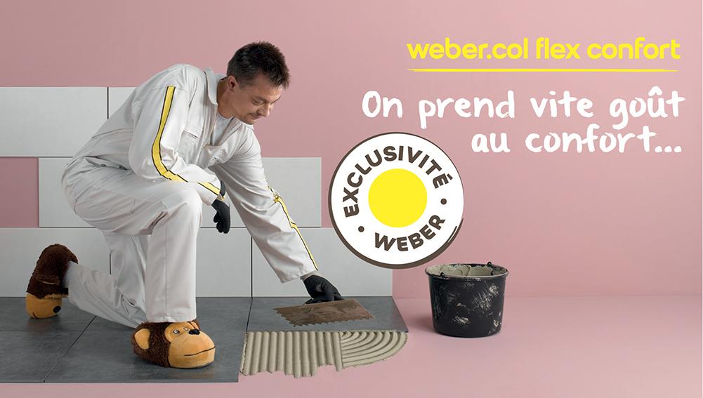 Weber Col Flex Confort Nouveau Mortier Colle Déformable
